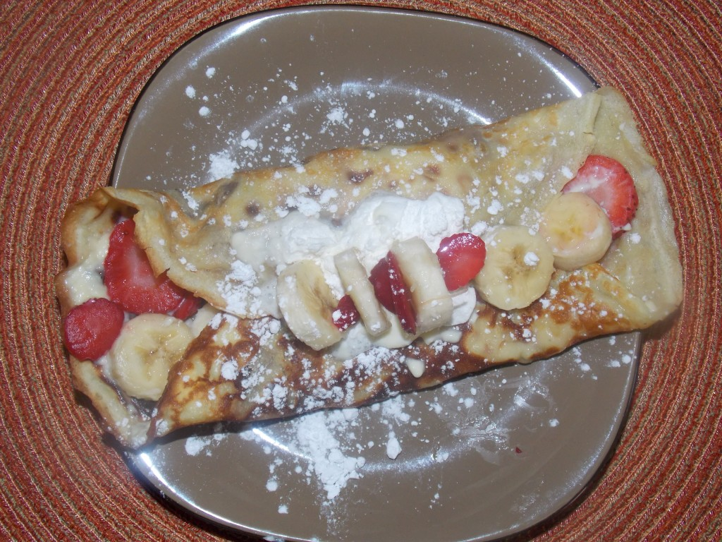 Homemade Strawberry and Banana Crepes - She's Facing Freedom